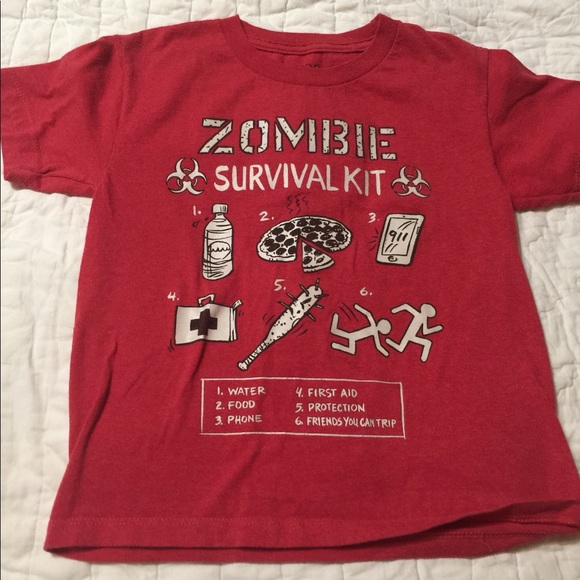 hybrid shirts tops zombie survival kit t shirt size xs poshmark